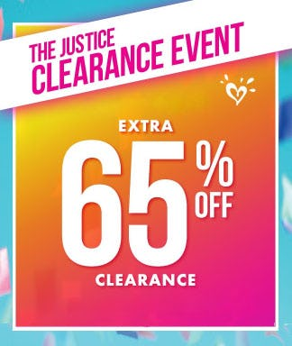 Extra 65% Off Clearance from Justice