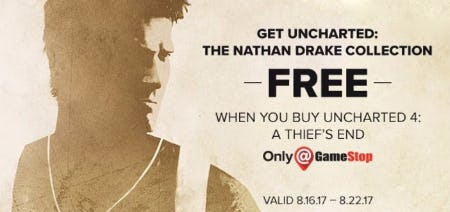 Free the Nathan Drake Collection with Uncharted 4: A Thief's End Purchase