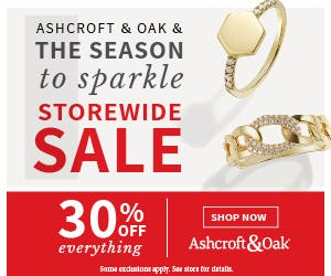 Season to Sparkle Sale from Ashcroft & Oak Jewelers