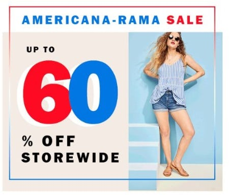 Up to 60% Off Storewide from Old Navy