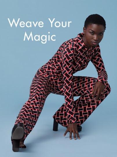 The Weave Print from Diane von Furstenberg