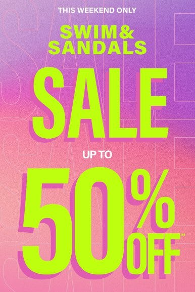 Swim & Sandals Sale up to 50% Off from PacSun