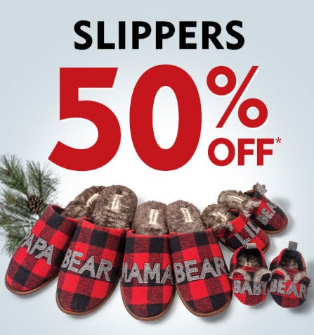 50% Off Slippers from Shoe Carnival