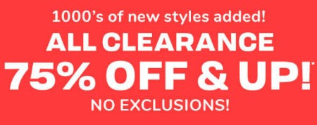 All Clearance 75% Off & Up from The Children's Place