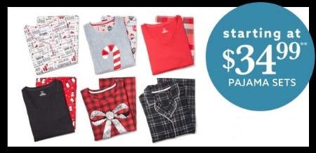 Pajama Sets Starting at $34.99 from Lord & Taylor