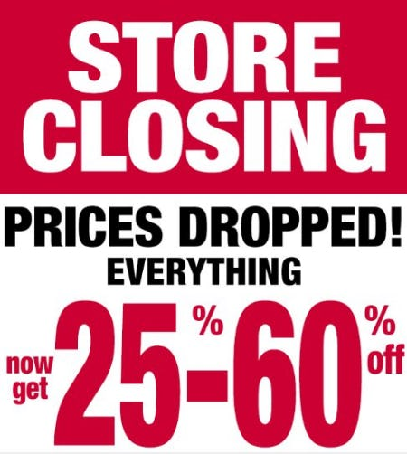 Store Closing: 25%-60% Off Everything from Dressbarn