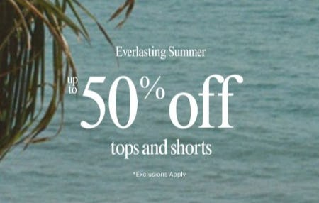 Up to 50% Off Tops and Shorts from Lucky Brand Jeans