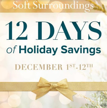 12 Days Of Holiday Savings! from Soft Surroundings