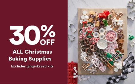30% Off All Christmas Baking Supplies from Michaels