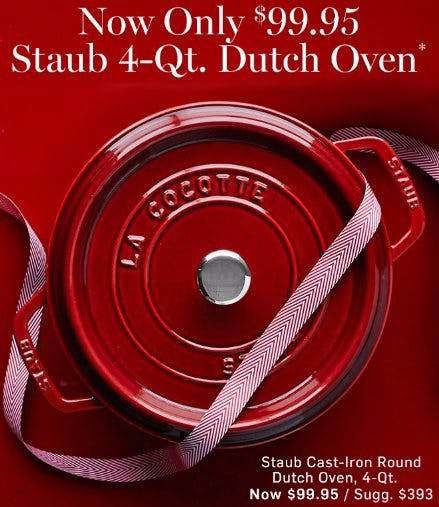 Staub 4-Qt. Dutch Oven Now Only $99.95