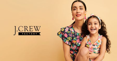 UP TO 50% OFF STOREWIDE! from J.Crew Factory
