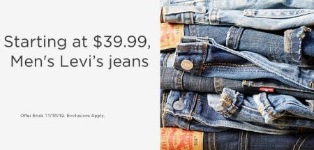 Men's Levi's Jeans Starting at $39.99 from Sears