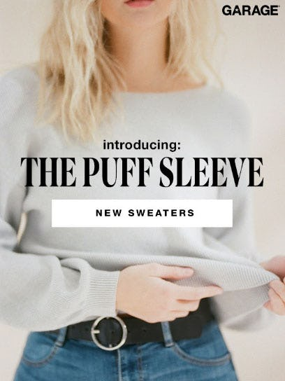 Introducing: The Puff Sleeve from Garage