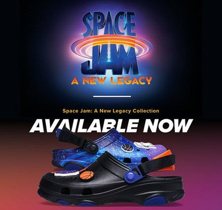 Snag your Space Jam: A New Legacy Clogs from Champs Sports
