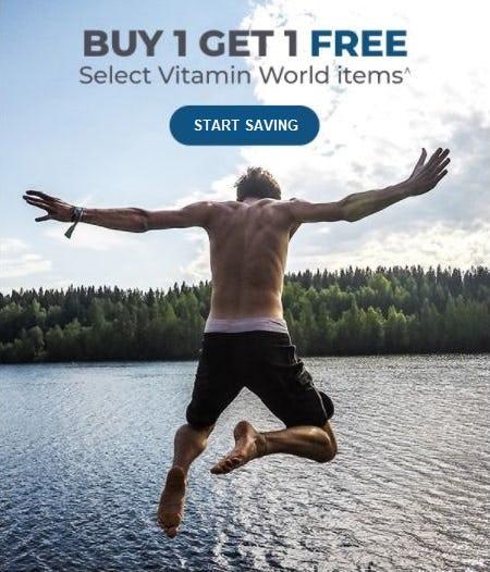 B1G1 Free Select Vitamin World Items from Vitamin World