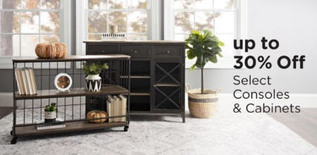 Up to 30% Off Select Consoles & Cabinets from Kirkland's