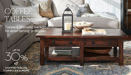Up to 30% Off Coffee Tables from Pottery Barn