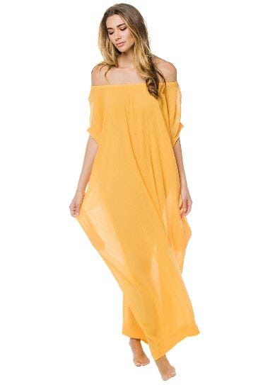 Moonstone Sheer Off The Shoulder Caftan from Everything But Water
