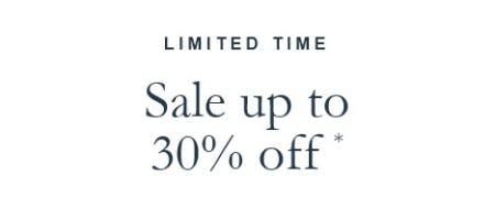 Sale Up to 30% Off from Abercrombie & Fitch