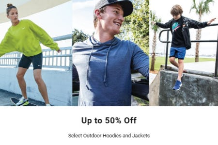 Up to 50% Off Select Outdoor Hoodies & Jackets