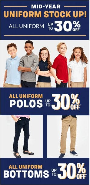 All Uniform up to 30% Off