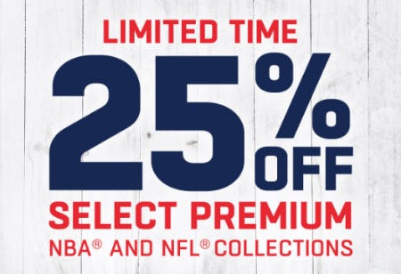 25% Off Select Premium from Lids