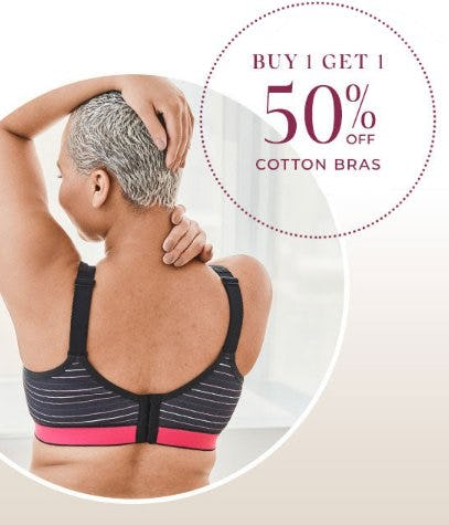 Buy 1, Get 1 50% Off Cotton Bras from Lane Bryant