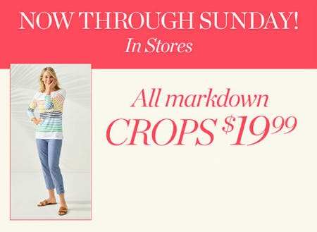 All Markdown Crops $19.99 from Talbots