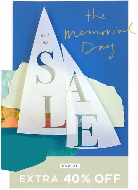 The Memorial Day Sale Extra 40% Off