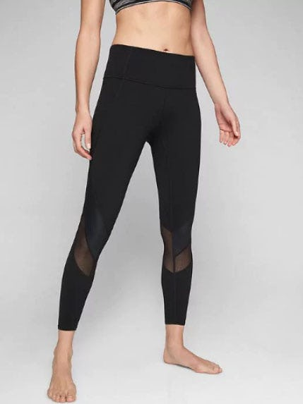 Mesh Shine Salutation 7/8 Tight