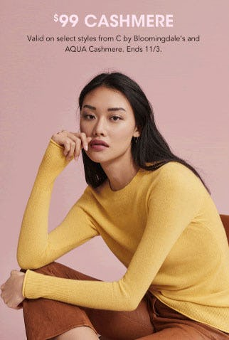 $99 Cashmere from Bloomingdale's