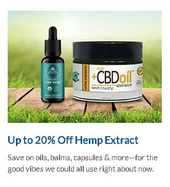 Up to 20% Off Hemp Extract from The Vitamin Shoppe