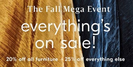 The Fall Mega Event from West Elm