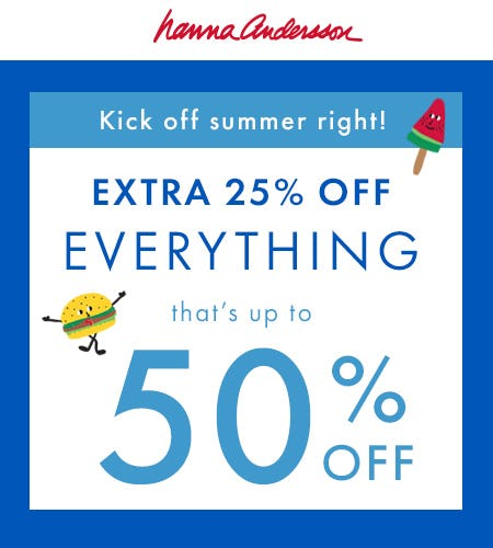 Extra 25% Off Everything from Hanna Andersson