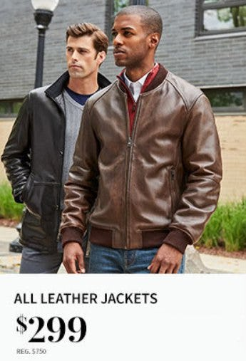 All Leather Jackets $299