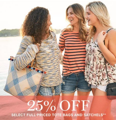 25% Off Select Full-Priced Tote Bags & Satchels from Vera Bradley