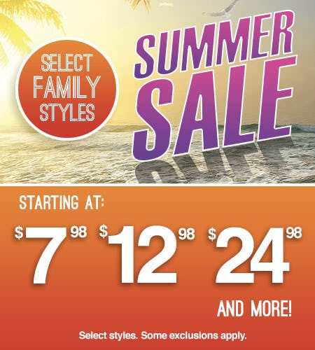 SUMMER SALE from Shoe Show