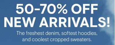 50-70% Off New Arrivals from Aéropostale