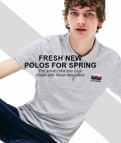 Fresh New Polos for Spring