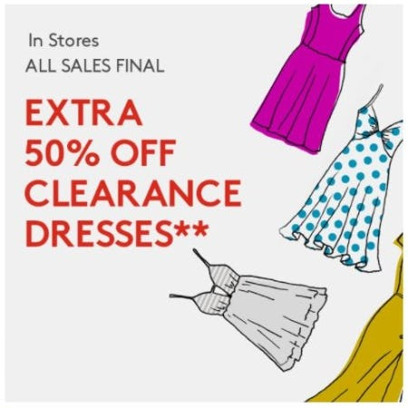Extra 50% Off Clearance Dresses from Nordstrom Rack
