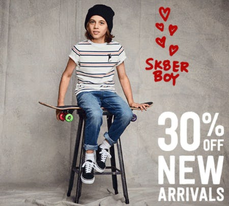30% Off New Arrivals from Crazy 8
