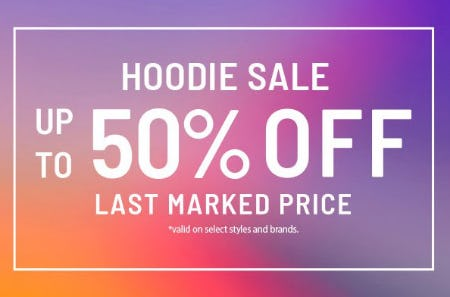 Hoodie Sale: Up to 50% Off Last Marked Price