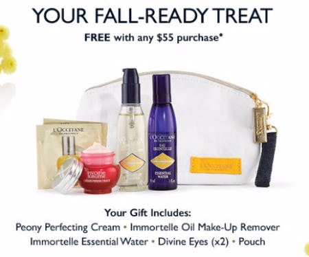 Your Fall-Ready Treat Free With Any $55 Purchase