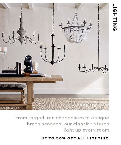 Up to 50% Off All Lighting from Pottery Barn