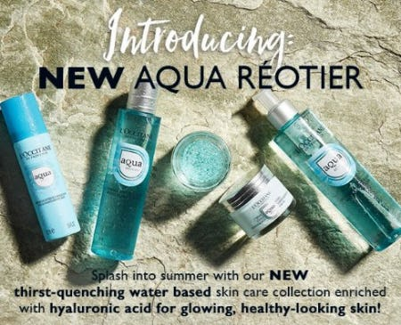 Introducing: New Aqua Reotier from L'Occitane