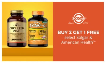 B2G1 Free Select Solgar and American Health