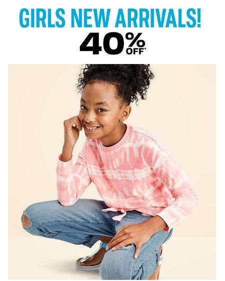 Girls New Arrivals 40% Off