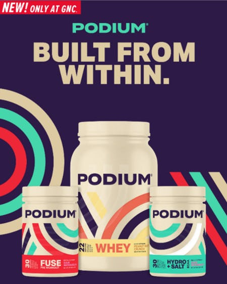 New: PODIUM Performance Products from GNC
