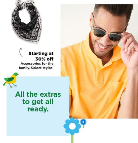 Starting at 30% Off Accessories for the Family from Kohl's