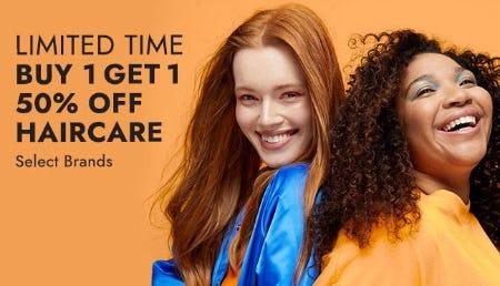 B1G1 50% Off Haircare